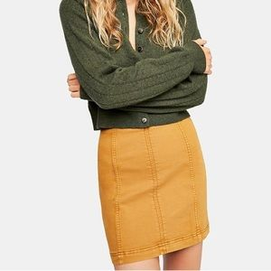 Free People ⭐️Modern Femme Denim Mini Skirt